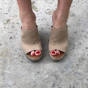 Tory Burch Shoes - Tory Burch Platform Open-Toed Wedges